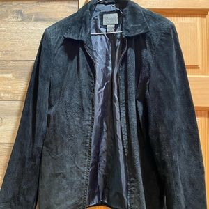 Vintage suede leather blazer